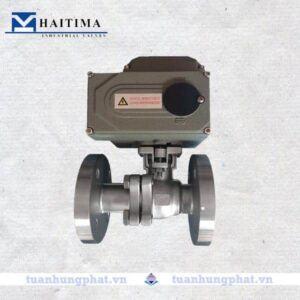 Van bi mặt bích điều khiển điện Haitima
