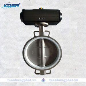 THP valve - Van bướm inox điều khiển khí nén