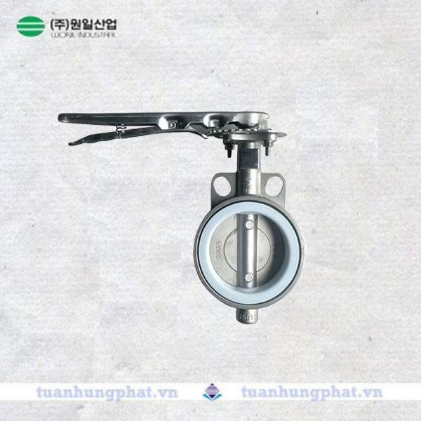 THP valve - Van bướm inox tay gạt Wonil Hàn Quốc