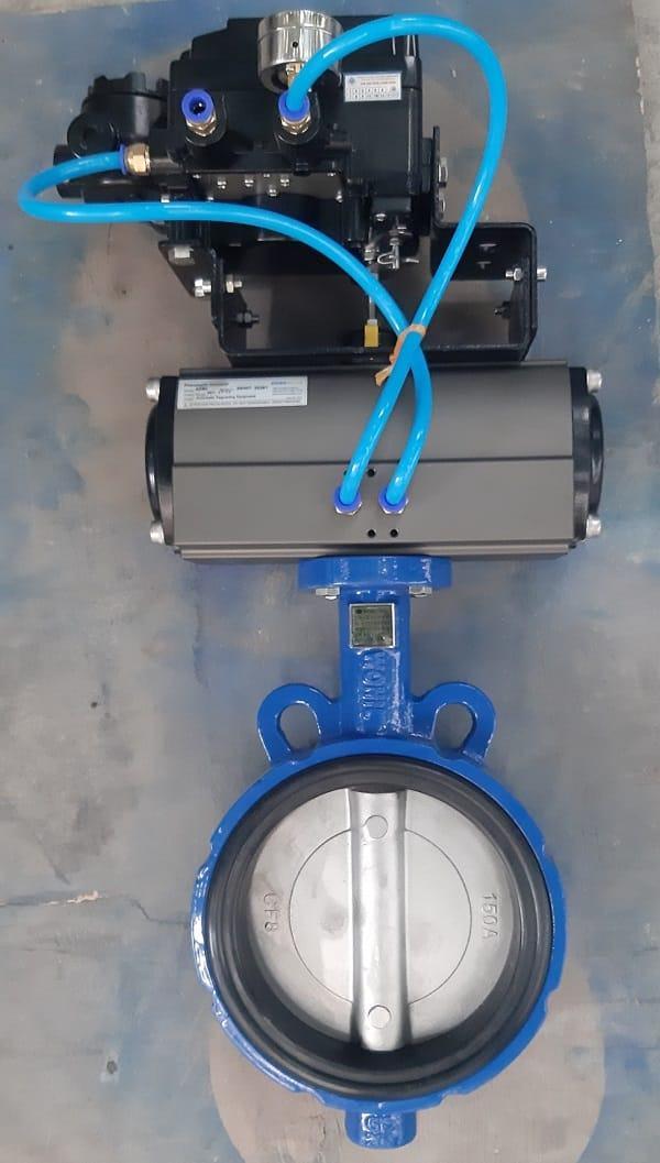 Van bướm điều khiển khí nén tuyến tính DN150