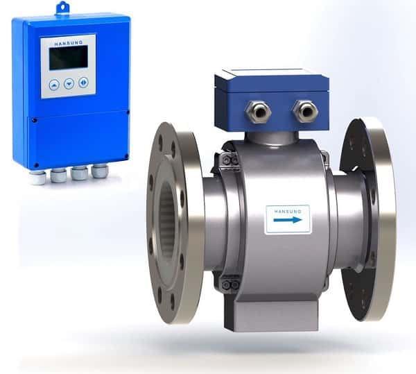 Đồng hồ nước điện từ Hansung Hàn Quốc Remote