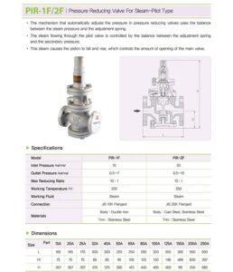 Catalog van giảm áp hơi nóng nối bích YNV