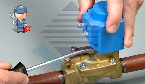 Lắp đặt solenoid valve